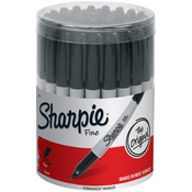 Sharpie Fine Black Canister 36/Pkg-