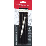 Black - Tombow MONO Drawing Pencils 6/Pkg & Eraser Set