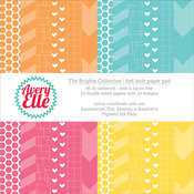 "Brights - Avery Elle Double-Side Paper Pad 6""X6"" 24/Sheets"