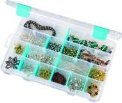 """ArtBin Tarnish Inhibitor Solutions Box 6-12 Compartments-11""""X7""""X1.75"""" Translucen"""