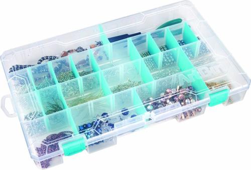 """ArtBin  Solutions Box Single Compartment-10.75/""""X7.375/""""X1.75/"""" Translucent"""