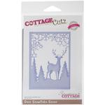 Deer Snowflake Scene Elites Die - CottageCutz