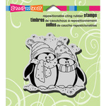 Bundle Penguins - Stampendous Christmas Cling Rubber Stamp