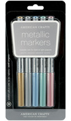 Gold, Silver, Blue, Teal & Violet - Metallic Markers Medium Point 5/Pkg
