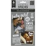 Baby Girl Clear Stickers - Pocket Pages - Me & My Big Ideas