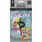 Birthday Clear Stickers - Pocket Pages - Me & My Big Ideas