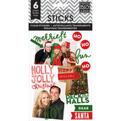 Holly Jolly Christmas Clear Stickers - Pocket Pages - Me & My Big Ideas