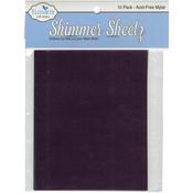 """Multicolor - Metallic Mylar Shimmer Sheetz Sampler 5""""X4"""" 10/Pkg"""