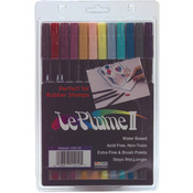 Victorian - Le Plume II Double-Ended Markers 12/Pkg