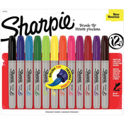 Sharpie Brush Tip Markers 12/Pkg-
