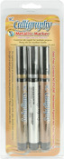 Silver, Gold & Copper - Calligraphy Metallic Markers 2mm 3/Pkg