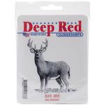 Buck Deer - Deep Red Cling Stamp