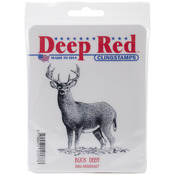 Buck Deer - Deep Red Cling Stamp