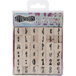 Alphabet Mounted Stamp Set - Dyan Reaveley's Dylusions