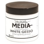 White - Dina Wakley Media Gesso 4oz Jar