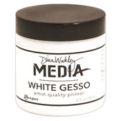 White - Dina Wakley Media Gesso 4oz Jar