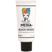Black - Dina Wakely Media Gesso 2oz Tube