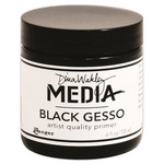 Black - Dina Wakley Media Gesso 4oz Jar