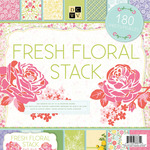 "Fresh Floral, 60 Designs/3 Each - Paper Stack 12""X12"" 180/Sheets"