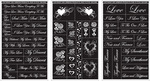 "Romantic Moments - Run 'N' Etch Designer Stencils 5""X8"" 3/Pkg"