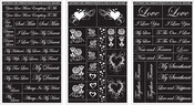 "Romantic Moments - Run 'N' Etch Designer Stencils 5""X8"" 3/Pkg"