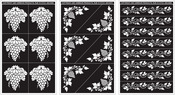 "Grape Designs - Run 'N' Etch Designer Stencils 5""X8"" 3/Pkg"