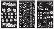 """Floral Designs - Run 'N' Etch Designer Stencils 5""""X8"""" 3/Pkg"""
