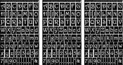 "Gala Letters & Numbers - Run 'N' Etch Designer Stencils 5""X8"" 3/Pkg"