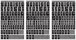 "Script Letters & Numbers - Run 'N' Etch Designer Stencils 5""X8"" 3/Pkg"