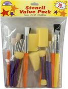 25pcs - Stencil Brush Value Pack