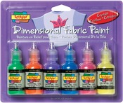 Crystals - Scribbles 3D Fabric Paint 1oz 6/Pkg