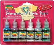 Glittering - Scribbles 3D Fabric Paint 1oz 6/Pkg