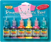 Iridescent - Scribbles 3D Fabric Paint 1oz 6/Pkg