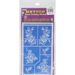"Detailed Floral - Rub 'N' Etch Designer Stencils 5""X8"" 1/Pkg"
