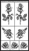 "Detailed Roses - Rub 'N' Etch Designer Stencils 5""X8"" 1/Pkg"