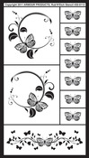 """Butterflies 2 - Rub 'N' Etch Designer Stencils 5""""X8"""" 1/Pkg"""