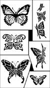 """Butterflies - Rub 'N' Etch Designer Stencils 5""""X8"""" 1/Pkg"""