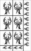 """Deer Head - Rub 'N' Etch Designer Stencils 5""""X8"""" 1/Pkg"""