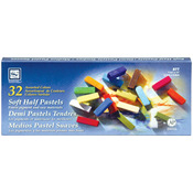 Assorted Colors - Soft Half Pastels 32/Pkg
