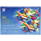 Assorted Colors - Soft Half Pastels 64/Pkg