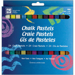 Assorted Colors - Chalk Pastels 24/Pkg