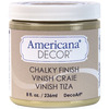 Timeless - Americana Chalky Finish Paint DECO ART-Americana Chalky Finish Paint. Paint that creates a unique, chalky, matte finish that gives pieces an old-world, European look and feel. This multi-surface paint is ideal for use on furniture, cabinets, walls, decorative glass, metal and more. Easy to distress. This package contains one 8oz jar of chalky finish paint. Comes in a variety of paint colors. Each sold separately. Conforms to ASTM D 4236. Non-toxic. Made in USA.