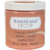Smitten - Americana Chalky Finish Paint DECO ART-Americana Chalky Finish Paint. Paint that creates a unique, chalky, matte finish that gives pieces an old-world, European look and feel. This multi-surface paint is ideal for use on furniture, cabinets, walls, decorative glass, metal and more. Easy to distress. This package contains one 8oz jar of chalky finish paint. Comes in a variety of paint colors. Each sold separately. Conforms to ASTM D 4236. Non-toxic. Made in USA.