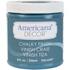 Treasure - Americana Chalky Finish Paint DECO ART-Americana Chalky Finish Paint. Paint that creates a unique, chalky, matte finish that gives pieces an old-world, European look and feel. This multi-surface paint is ideal for use on furniture, cabinets, walls, decorative glass, metal and more. Easy to distress. This package contains one 8oz jar of chalky finish paint. Comes in a variety of paint colors. Each sold separately. Conforms to ASTM D 4236. Non-toxic. Made in USA.