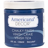 Legacy - Americana Chalky Finish Paint DECO ART-Americana Chalky Finish Paint. Paint that creates a unique, chalky, matte finish that gives pieces an old-world, European look and feel. This multi-surface paint is ideal for use on furniture, cabinets, walls, decorative glass, metal and more. Easy to distress. This package contains one 8oz jar of chalky finish paint. Comes in a variety of paint colors. Each sold separately. Conforms to ASTM D 4236. Non-toxic. Made in USA.