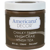 Rustic - Americana Chalky Finish Paint DECO ART-Americana Chalky Finish Paint. Paint that creates a unique, chalky, matte finish that gives pieces an old-world, European look and feel. This multi-surface paint is ideal for use on furniture, cabinets, walls, decorative glass, metal and more. Easy to distress. This package contains one 8oz jar of chalky finish paint. Comes in a variety of paint colors. Each sold separately. Conforms to ASTM D 4236. Non-toxic. Made in USA.