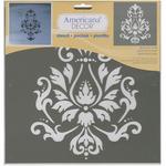 Brocade Motif - Americana Decor Stencil