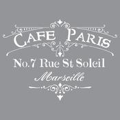 Cafe Paris - Americana Decor Stencil