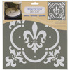Fleur De Lis Tile - Americana Decor Stencil DECO ART-Americana Decor Stencil. Create a vintage style home decor piece using this stencil and chalky finish paint (sold separately). Works well on furniture pieces and smaller decorative items. This package contains one 12x12 inch laser-cut stencil. Comes in a variety of designs. Each sold separately. Imported.