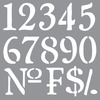 Olde World Numbers - Americana Decor Stencil DECO ART-Americana Decor Stencil. Create a vintage style home decor piece using this stencil and chalky finish paint (sold separately). Works well on furniture pieces and smaller decorative items. This package contains one 12x12 inch laser-cut stencil. Comes in a variety of designs. Each sold separately. Imported.